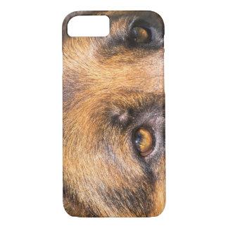 German Shepherd dog, close up on eyes Case-Mate iPhone Case