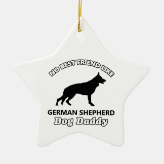german shepherd Dog Daddy Ceramic Ornament