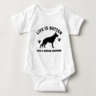 German Shepherd dog Design Baby Bodysuit