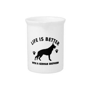 German Shepherd dog Design Pitchers