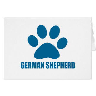 GERMAN SHEPHERD DOG DESIGNS CARD