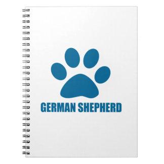 GERMAN SHEPHERD DOG DESIGNS NOTEBOOK