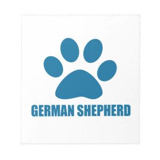 GERMAN SHEPHERD DOG DESIGNS NOTEPAD
