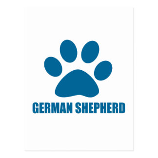 GERMAN SHEPHERD DOG DESIGNS POSTCARD