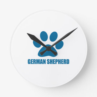 GERMAN SHEPHERD DOG DESIGNS ROUND CLOCK