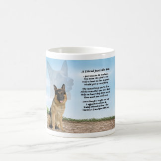 German Shepherd Dog Friend Poem Mug