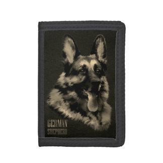 German Shepherd dog - GSD Portrait Trifold Wallet
