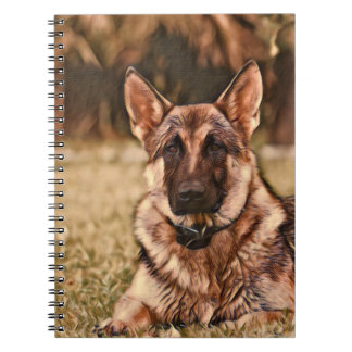 German Shepherd Dog Hackibus  Notebook