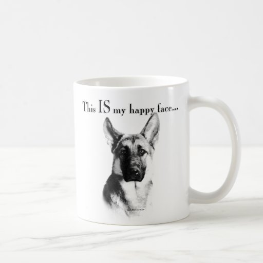 German Shepherd Dog Happy Face Mug