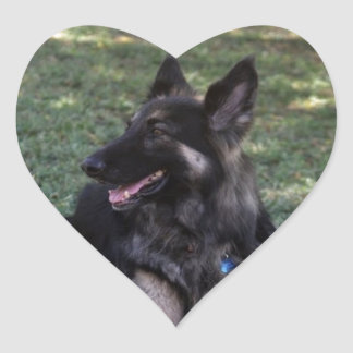 German Shepherd Dog Heart Sticker