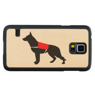 German Shepherd Dog in Vest in Silhouette Maple Galaxy S5 Case