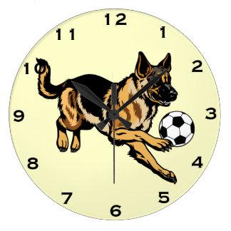 german shepherd dog large clock