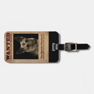 German Shepherd Dog Luggage Tag