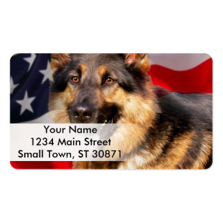 German shepherd Dog Patriot Red Blue White Pack Of Standard Business Cards