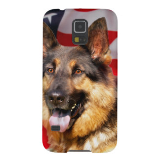 German shepherd Dog Patriot Red Blue White Galaxy S5 Covers