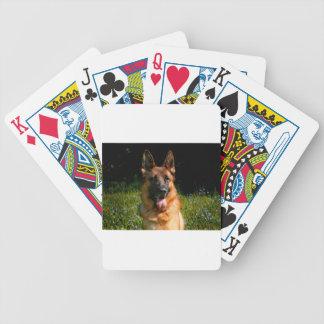 German Shepherd Dog Pet Bicycle Playing Cards