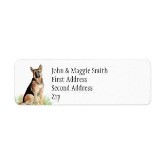 German Shepherd Dog Pet Name Label