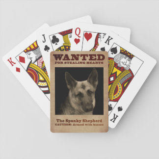 German Shepherd Dog Playing Cards