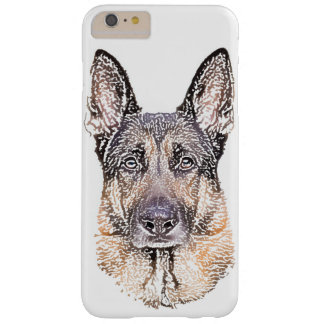 German Shepherd Dog Portrait of Man's Best Friend Barely There iPhone 6 Plus Case