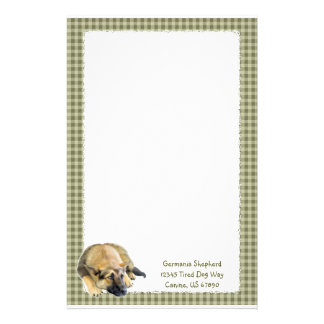 German Shepherd Dog Puppy Stationery