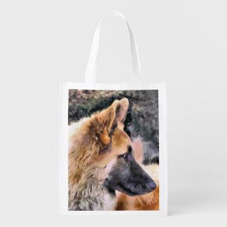 GERMAN SHEPHERD DOG REUSABLE GROCERY BAG