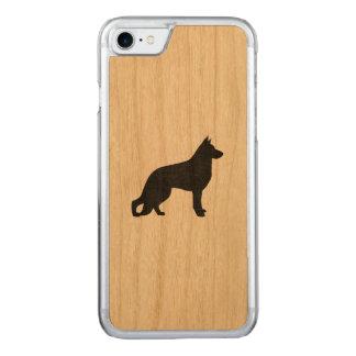 German Shepherd Dog Silhouette Carved iPhone 8/7 Case