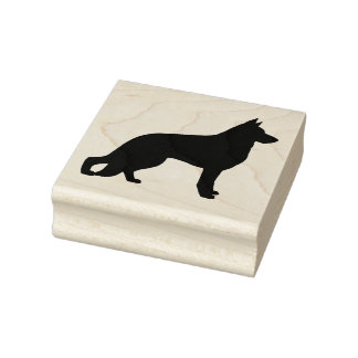 German Shepherd Dog Silhouette Rubber Stamp