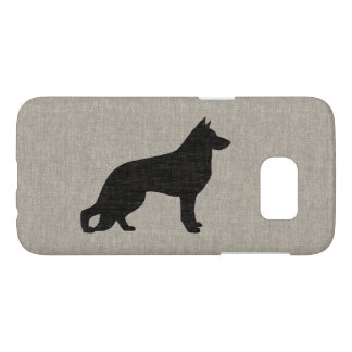 German Shepherd Dog Silhouette Samsung Galaxy S7 Case