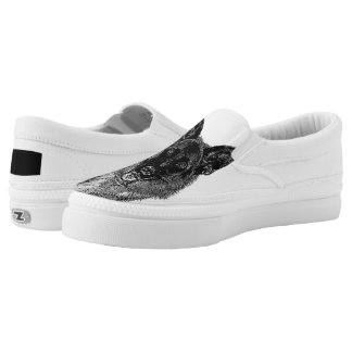German Shepherd dog Slip-On Sneakers