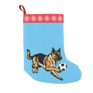 german shepherd dog small christmas stocking