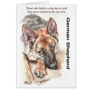 "German Shepherd Dog ""Soulful"" Card"