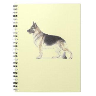German Shepherd Dog Spiral Note Book