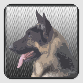 German Shepherd Dog Square Sticker