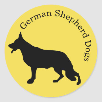 German Shepherd Dog Sticker Rounded Text