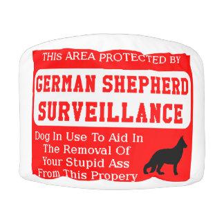 german shepherd dog surveillance pouf