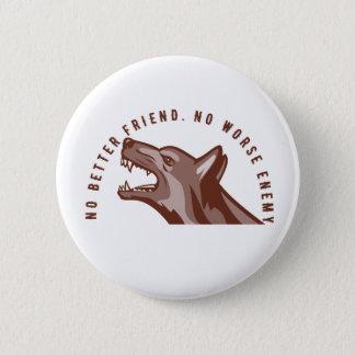 German Shepherd Dog Text 2 Inch Round Button