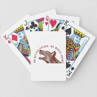 German Shepherd Dog Text Bicycle Playing Cards