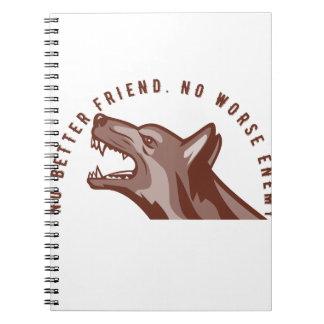 German Shepherd Dog Text Notebook