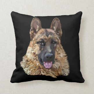 German Shepherd Dog Throw Pillow