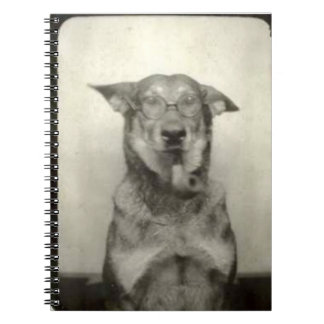 German Shepherd Dog Vintage Themed Spiral Notebook
