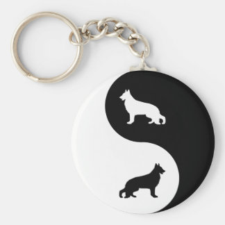 German Shepherd Dog Yin Yang Keychain