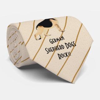 German Shepherd Dogs Rock!!  printed both side Tie