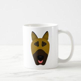German Shepherd emoji mug