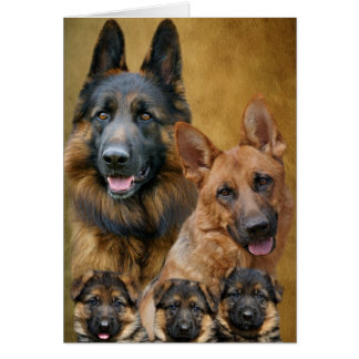German Shepherd Family Card
