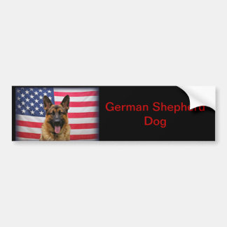 German Shepherd Flag Bumper Sticker