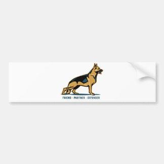 German Shepherd Friend Bumper Sticker