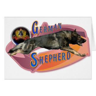 German Shepherd Full Stride Card