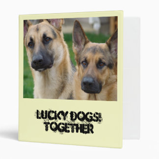 German Shepherd Gift BINDER Lucky Dogs Together