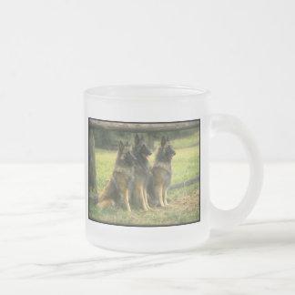 German Shepherd Gifts Frosted Glass Coffee Mug