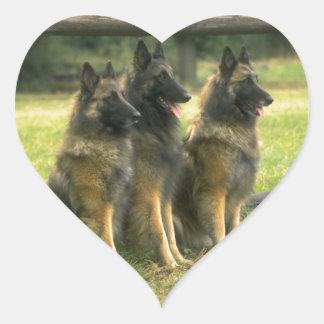 German Shepherd Gifts Heart Sticker